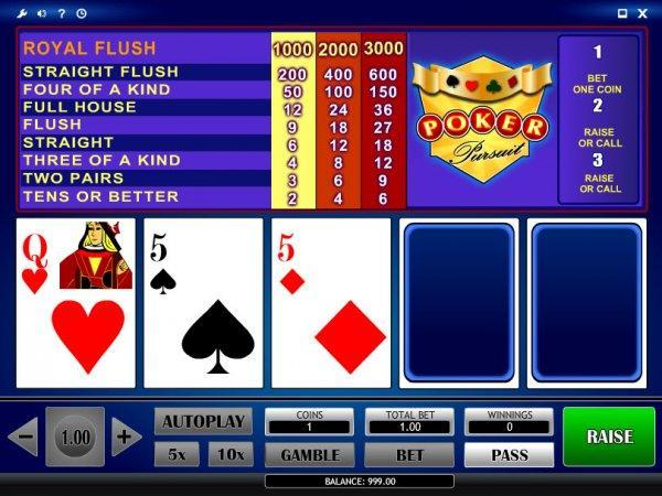 Poker Pursuit Videopoker