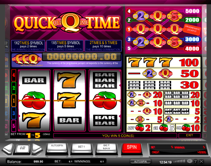 Quick Time Slot Machine