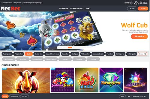 Netbet Casinò Screenshot